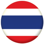 Thailand Country Flag 58mm Button Badge